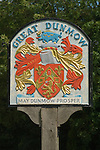 Great Dunmow Essex Village town [coat of arms] sign. UK 2008.