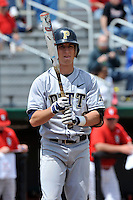 Pittsburgh Panthers outfielder Zach Duggan (9) during game against St.John's Red Storm at Jack Kaiser Stadium in Queens, New York;  May 7, 2011.  St. John's defeated Pittsburgh 7-0.  Photo By Tomasso DeRosa/Four Seam Images