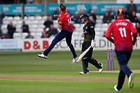Gareth Roderick of Gloucestershire leaves the field having been bowled by Aaron Beard during Essex Eagles vs Gloucestershire, Royal London One-Day Cup Cricket at The Cloudfm County Ground on 7th May 2019