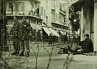 British soldiers in Tel Aviv- Curfew, July 1946