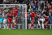 30th September 2017, The Hawthorns, West Bromwich, England; EPL Premier League football, West Bromwich Albion versus Watford; José Holebas of Watford clears the ball in defence
