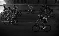 Rigoberto Uran (COL/Etixx-Quickstep) is among a bunch under the railway right behind the start<br /> <br /> 2015 Giro<br /> st4: Chiavari - La Spezia (150km)