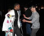 James Brown III & Bryce Pinkham.attending the Broadway Opening Nigh Gypsy Robe Ceremony for 'GHOST' honoring recepient James Brown III at the Lunt-Fontanne Theater on 4/23/2012 in New York City.