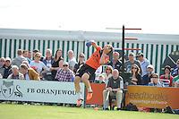KAATSEN: SINT JACOB: 19-06-2016, Heren Hoofdklasse Vrije formatie winnaar werden Gert-Anne van der Bos, Taeke Triemstra en Daniël Iseger (slaat de bal), ©foto Martin de Jong