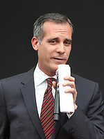 UNIVERSAL CITY, CA - AUGUST 02: Eric Garcetti, At 'Will & Grace' Start Of Production Kick Off Event And Ribbon Cutting Ceremony At Universal City Plaza  In California on August 02, 2017. Credit: FS/MediaPunch