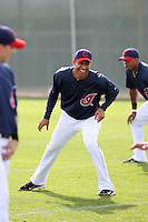Hector Rondon. Cleveland Indians spring training workouts at their complex in Goodyear, AZ - 03/06/2010.Photo by:  Bill Mitchell/Four Seam Images.