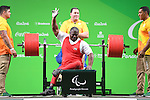 Mohammed Khalaf (UAE), <br /> SEPTEMBER 13, 2016 - Powerlifting : <br /> Men's -88kg<br /> at Riocentro - Pavilion 2<br /> during the Rio 2016 Paralympic Games in Rio de Janeiro, Brazil.<br /> (Photo by AFLO SPORT)