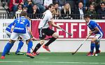 AMSTELVEEN - Mirco Pruyser (A'dam)  tijdens  de  eerste finalewedstrijd van de play-offs om de landtitel in het Wagener Stadion, tussen Amsterdam en Kampong (1-1). Kampong wint de shoot outs.  . COPYRIGHT KOEN SUYK