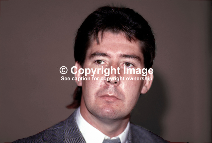 Joe O'Donnell, prominent member, Provisional Sinn Fein, N Ireland, 19870602JOD..Copyright Image from Victor Patterson, 54 Dorchester Park, Belfast, UK, BT9 6RJ..Tel: +44 28 9066 1296.Mob: +44 7802 353836.Voicemail +44 20 8816 7153.Skype: victorpattersonbelfast.Email: victorpatterson@me.com.Email: victorpatterson@ireland.com (back-up)..IMPORTANT: If you wish to use this image or any other of my images please go to www.victorpatterson.com and click on the Terms & Conditions. Then contact me by email or phone with the reference number(s) of the image(s) concerned.