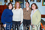 Marie Morris with Helen and Mary Slattery and Helen Burman Roy attending the Ballymac Mac Pub Theatre's 3 part play in the Ballymac Bar on Thursday night,