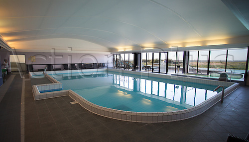12.04.2016. Hôtel Atalante Relais Thalasso, France. The hotel and training facilities for the Spanish mens national football team for Euro 2016 tournament.  Indoor pool area