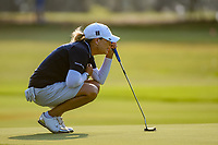 Cristie Kerr (USA) lines up her putt on 1 during round 1 of the 2019 US Women's Open, Charleston Country Club, Charleston, South Carolina,  USA. 5/30/2019.<br /> Picture: Golffile | Ken Murray<br /> <br /> All photo usage must carry mandatory copyright credit (© Golffile | Ken Murray)