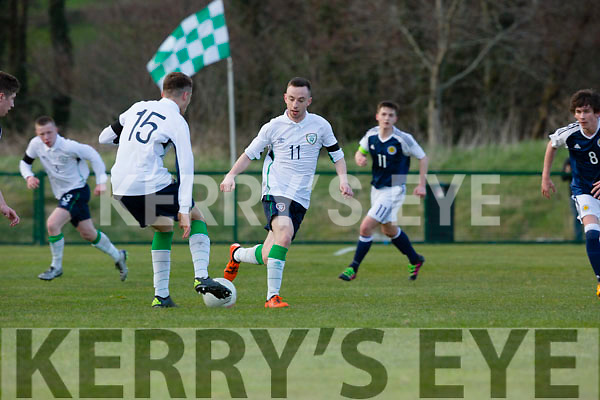 Jesse Stafford-Lacey in action against Scotland in Killarney on Thursday night