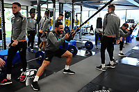 Cameron Carter-Vickers of Swansea City in the gym during the Swansea City Training at The Fairwood Training Ground in Swansea, Wales, UK. Wednesday 20February 2019