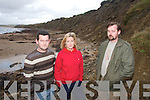 HELP: Residents living close to Kilmore Strand in Ballyduff are expressing serious safety  concerns at costal erosion that is taking place close to the Strand..L/r. Declan Whelan,  Antoinette McGrath and Maurice Whelan.