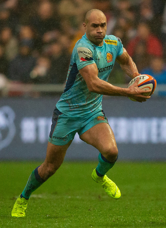 Exeter Chiefs' Olly Woodburn in action during todays match<br /> <br /> Photographer Bob Bradford/CameraSport<br /> <br /> Premiership Rugby Cup Round 4 - Bristol Bears v Exeter Chiefs - Saturday 26th January 2019 - Ashton Gate - Bristol<br /> <br /> World Copyright © 2018 CameraSport. All rights reserved. 43 Linden Ave. Countesthorpe. Leicester. England. LE8 5PG - Tel: +44 (0) 116 277 4147 - admin@camerasport.com - www.camerasport.com