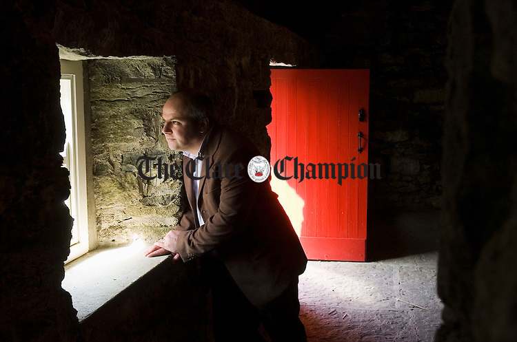 Paddy Maher, the newly appointed manager of the Michael Cusack Centre at Carron, in the Cusack cottage on the complex. Photograph by John Kelly.