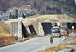 March 4, 2016, Otsuchi-cho, Japan - Gigantic levees separate the sea from the town in Otsuchi-cho, Iwate prefecture, northeast of Japan on March 3, 2016. A magnitude 9.0 earthquake and ensuing tsunami left 1,300 residents dead or missing in their wake on March 11, 2011, in this coastal town.?Japan marks the five-year anniversary of the disaster on Friday next week. (Photo by Natsuki Sakai/AFLO) AYF -mis-