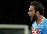Gonzalo Higuain     during the Italian Serie A soccer match between SSC Napoli and AC Fiorentina   at San Paolo stadium in Naples, March 22 , 2014