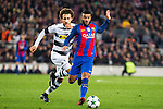 VfL Borussia Monchengladbach's Fabian Johnson, FC Barcelona's Rafinha Alcantara  during Champions League match between Futbol Club Barcelona and VfL Borussia Mönchengladbach  at Camp Nou Stadium in Barcelona , Spain. December 06, 2016. (ALTERPHOTOS/Rodrigo Jimenez)