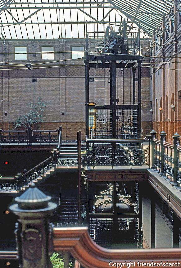 Los Angeles: Bradbury Building. Photo '78.