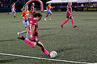 Rochester, NY - Saturday Aug. 27, 2016: Elizabeth Eddy during a regular season National Women's Soccer League (NWSL) match between the Western New York Flash and the Houston Dash at Rochester Rhinos Stadium.