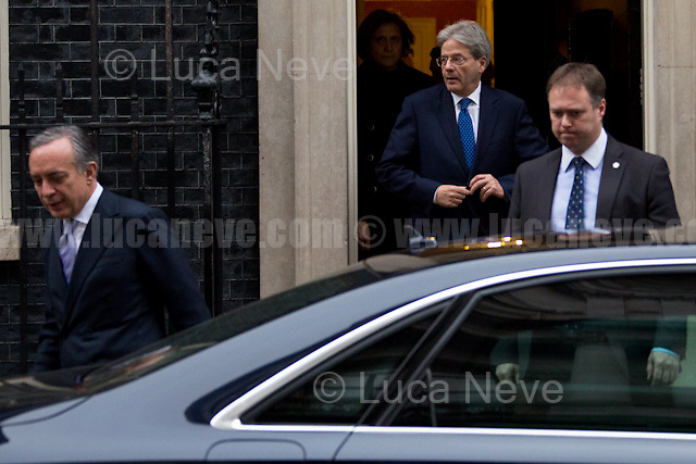 (From L to R) Pasquale Terracciano (Italian Ambassador in the UK) &amp; Paolo Gentiloni (Italian Prime Minister) &amp;  <br />