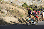 Lars Boom (NED) Team LottoNL-Jumbo on the slopes of Sierra de la Alfaguara near the finish of Stage 4 of the La Vuelta 2018, running 162km from Velez-Malaga to Alfacar, Sierra de la Alfaguara, Andalucia, Spain. 28th August 2018.<br /> Picture: Eoin Clarke   Cyclefile<br /> <br /> <br /> All photos usage must carry mandatory copyright credit (&copy; Cyclefile   Eoin Clarke)