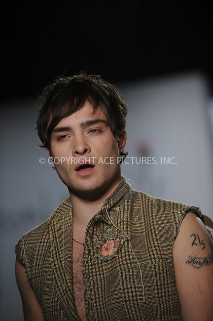 WWW.ACEPIXS.COM..March 30 2009, New York City..Gossip Girl actor Ed Westwick attends the 'Dressed To Kilt' charity fashion show benefiting Friends of Scotland at M2 Lounge on March 30, 2009 in New York City...Please byline: Kristin Callahan - ACEPIXS.COM...*** ***...Ace Pictures, Inc.tel: (212) 243 8787.e-mail: info@acepixs.com.web: http://www.acepixs.com..© 2009 Kristin Callahan/ACE Pictures.