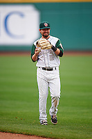 Fort Wayne TinCaps shortstop Peter Van Gansen (5) warms up before the first game of a doubleheader against the Great Lakes Loons on May 11, 2016 at Parkview Field in Fort Wayne, Indiana.  Great Lakes defeated Fort Wayne 3-0.  (Mike Janes/Four Seam Images)