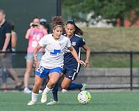 Allston, Massachusetts - July 17, 2016:  In a National Women's Soccer League (NWSL) match, Sky Blue FC (blue) defeated Boston Breakers (white/blue), 3-2, at Jordan Field.