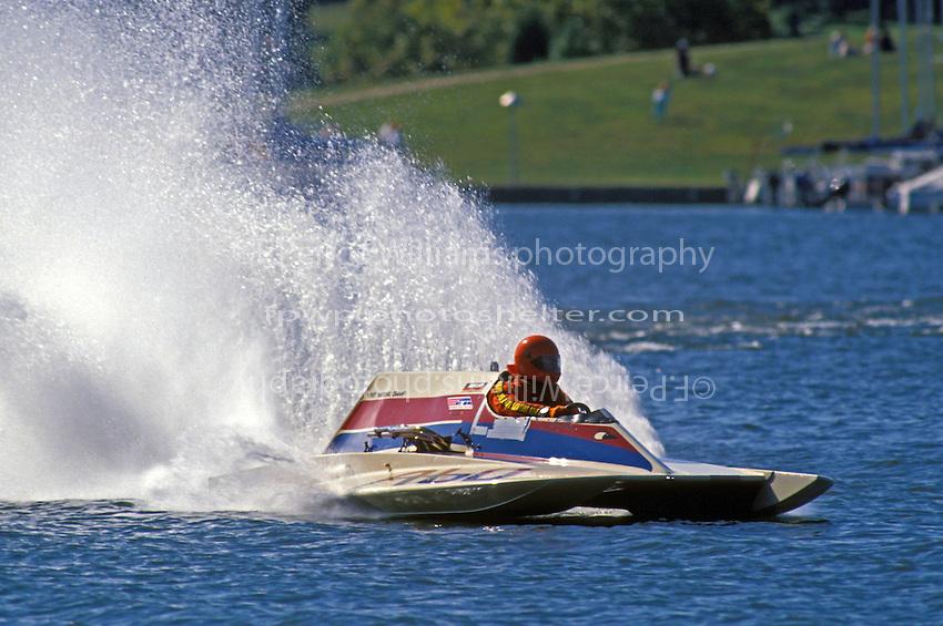 "A-60 ""Mr. Bud"" (2.5 MOD class hydroplane(s) Rocky Fork State Park, Hillsboro, Ohio 1991"