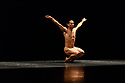 """London, UK. 26.09.2017. Acosta Danza, the new dance company founded by Cuban dancer, Carlos Acosta, receives its UK premiere at Sadler's Wells. The piece shown is: """"El cruce sobre el Niagara"""", choreographed by Marianela Boan. Picture shows: Alejandro Silva. Photograph © Jane Hobson."""