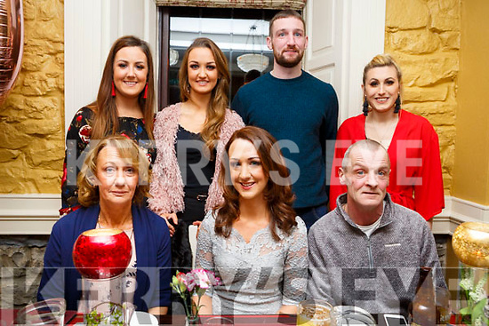 Denise Shanahan from Kielduff, seated front centre, celebrating her birthday with her family in the Brogue Inn on Friday night last. <br /> Seated l-r, Marie, Denise and Denis Shanahan.<br /> Standing l-r, Majella, Clare and Mossie Shanahan and Kim Green.
