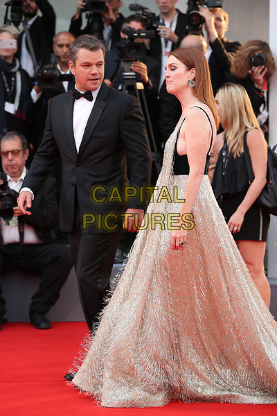 VENICE, ITALY - SEPTEMBER 02: Matt Damon, Julianne Moore - arrivals at the 'Suburbicon' screening during the 74th Venice Film Festival at Sala Grande on September 2, 2017 in Venice, Italy.<br /> CAP/GOL<br /> &copy;GOL/Capital Pictures