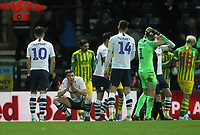 Preston North End's Declan Rudd reacts to the penalty decision<br /> <br /> Photographer Mick Walker/CameraSport<br /> <br /> The EFL Sky Bet Championship - Preston North End v West Bromwich Albion - Monday 2nd December 2019 - Deepdale Stadium - Preston<br /> <br /> World Copyright © 2019 CameraSport. All rights reserved. 43 Linden Ave. Countesthorpe. Leicester. England. LE8 5PG - Tel: +44 (0) 116 277 4147 - admin@camerasport.com - www.camerasport.com