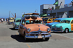 Woodies on the Wharf.  Mick Carolan's 1950 Ford