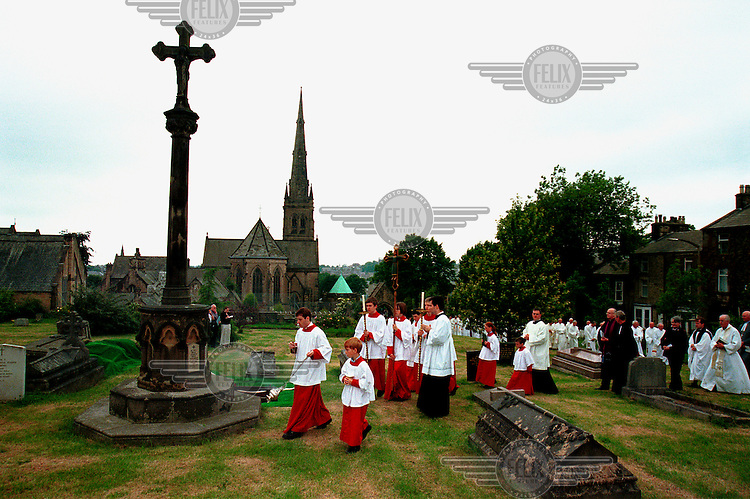 Bishop Brewer's funeral at Lancaster Cathedral.