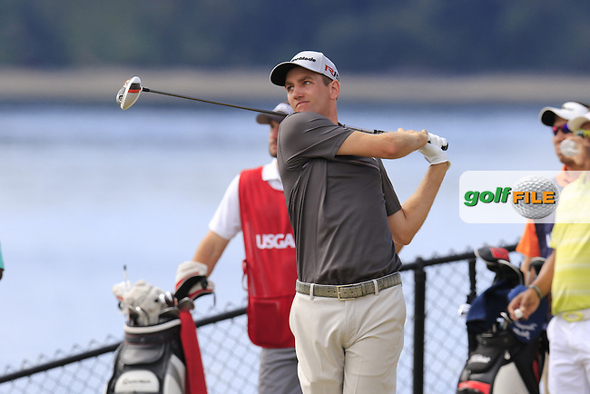 Brendon TODD (USA) tees off the 16th tee during Thursday's Round 1 of the 2015 U.S. Open 115th National Championship held at Chambers Bay, Seattle, Washington, USA. 6/18/2015.<br /> Picture: Golffile | Eoin Clarke<br /> <br /> <br /> <br /> <br /> All photo usage must carry mandatory copyright credit (&copy; Golffile | Eoin Clarke)