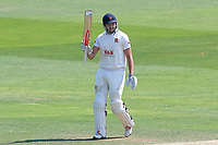 Nick Browne of Essex celebrates scoring a half-century, 50 runs during Essex CCC vs Warwickshire CCC, Specsavers County Championship Division 1 Cricket at The Cloudfm County Ground on 19th June 2017