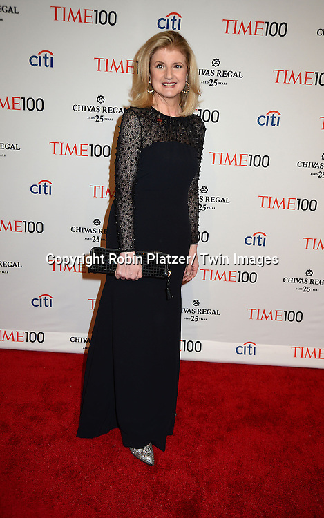 Arianna Huffington attends the TIME 100 Gala celebrating the 100 Most Influential People in the World on April 29, 2014 at Frederick P Rose Hall in New York City, NY, USA.