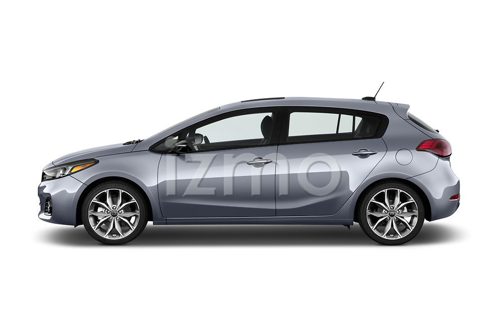 Car Driver side profile view of a 2017 KIA Forte5 SX 5 Door Hatchback Side View