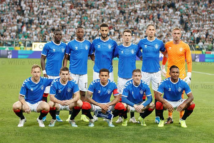 22.08.2019 Legia Warsaw v Rangers: Rangers team
