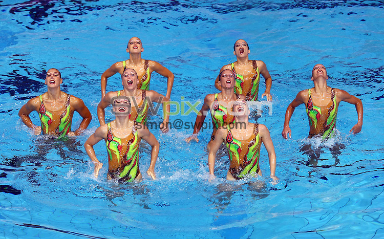 PICTURE BY VAUGHN RIDLEY/SWPIX.COM...Synchronised Swimming - European Synchro Champions Cup - Ponds Forge, Sheffield, England - 21/05/11...Italy compete in the Team Free Final Event.