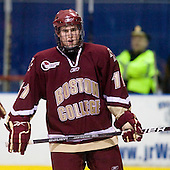 Pat Mullane (BC - 11) - The Merrimack College Warriors defeated the Boston College Eagles 5-3 on Sunday, November 1, 2009, at Lawler Arena in North Andover, Massachusetts splitting the weekend series.