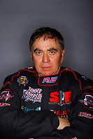 Feb 8, 2018; Pomona, CA, USA; NHRA top fuel driver Scott Palmer poses for a portrait during media day at Auto Club Raceway at Pomona. Mandatory Credit: Mark J. Rebilas-USA TODAY Sports
