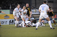 Wycombe, GREAT BRITAIN, Sililo MARTEN clears the ball, during the Guinness Premiership game, London Wasps vs Sale Sharks 15.04.2008 [Mandatory Credit Peter Spurrier/Intersport Images]