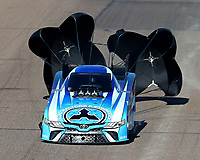 Feb 25, 2018; Chandler, AZ, USA; NHRA funny car driver Jonnie Lindberg during the Arizona Nationals at Wild Horse Pass Motorsports Park. Mandatory Credit: Mark J. Rebilas-USA TODAY Sports