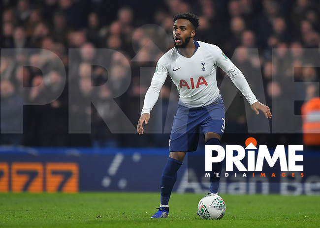 Danny Rose of Tottenham Hotspur in action during the Carabao Cup Semi-Final 2nd leg match between Chelsea and Tottenham Hotspur at Stamford Bridge, London, England on 24 January 2019. Photo by Vince  Mignott / PRiME Media Images.