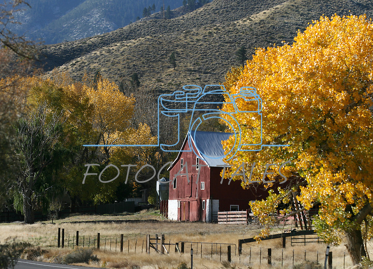 The old barn at the Van Sickle Ranch in Minden, Nev., seen Saturday, Nov. 6, 2010.  .Photo by Cathleen Allison